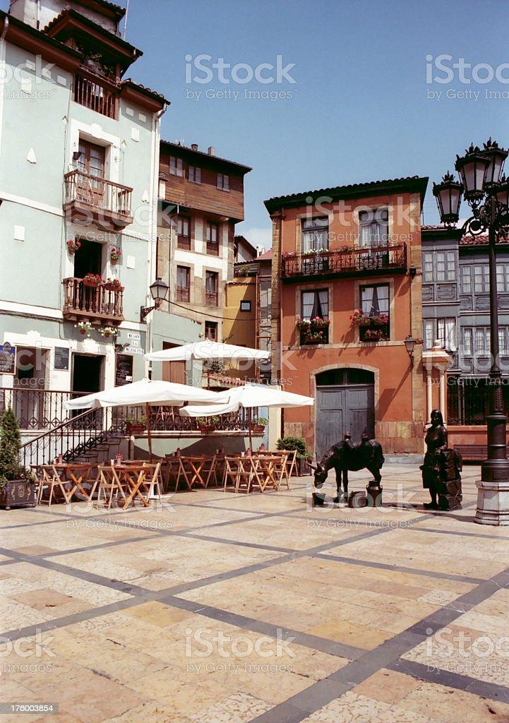 Oviedo plaza stock photo