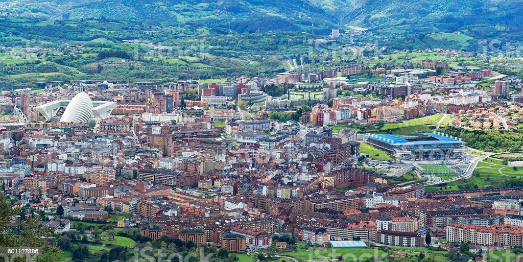 Oviedo,cityscape stock photo