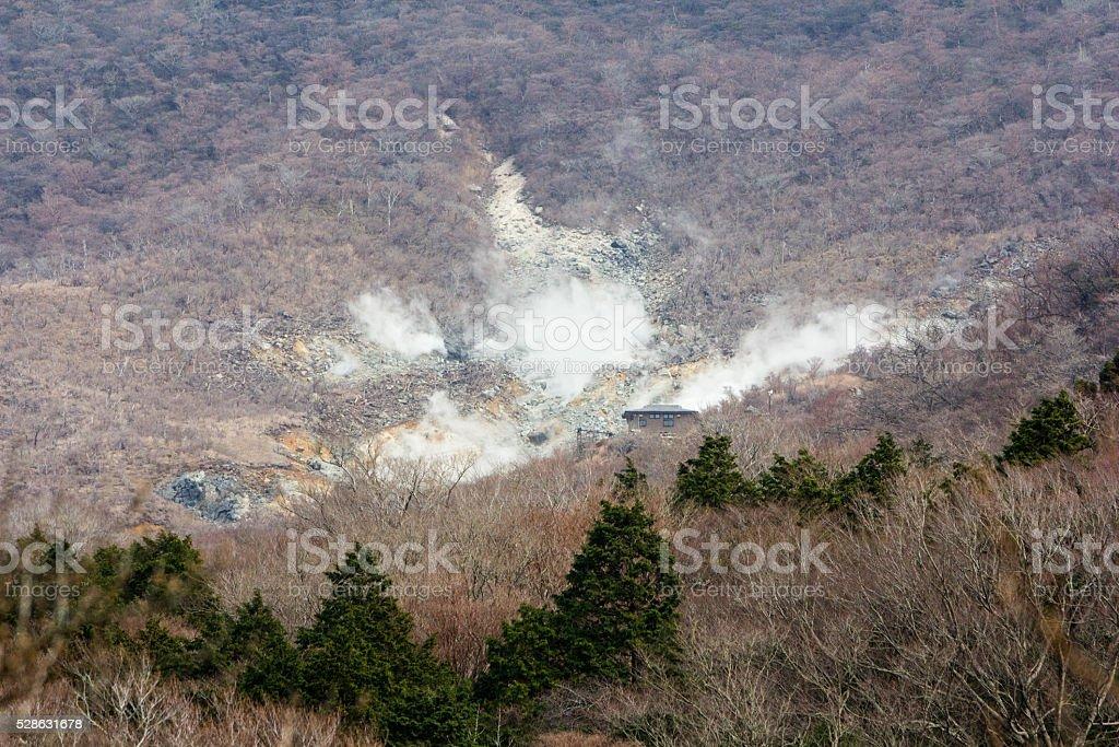 Owakudani in Hakone, Japan stock photo