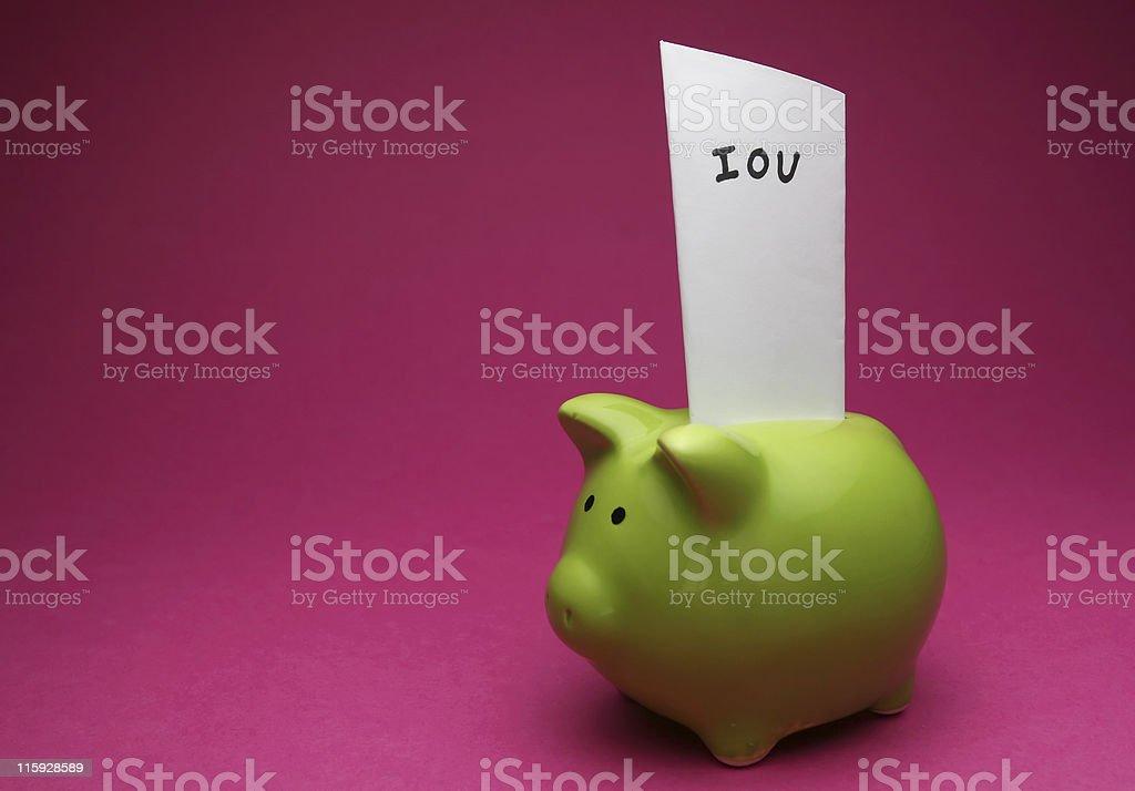 I owe You stock photo