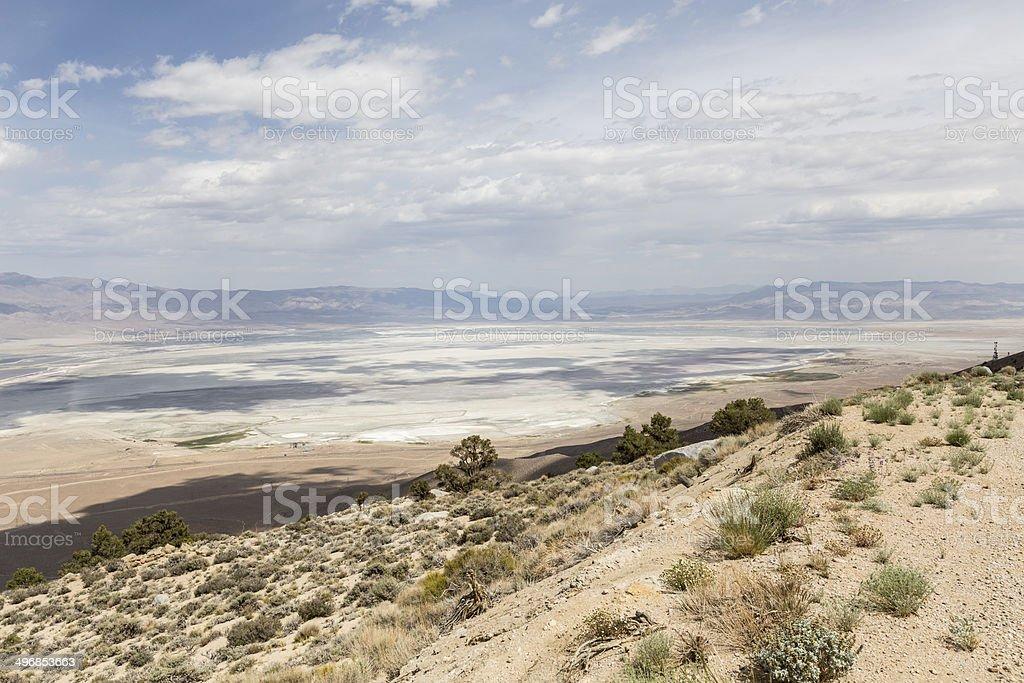 Owens Dry Lake near Lone Pine California stock photo