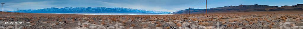 Owens lake and Eastern Sierras stock photo
