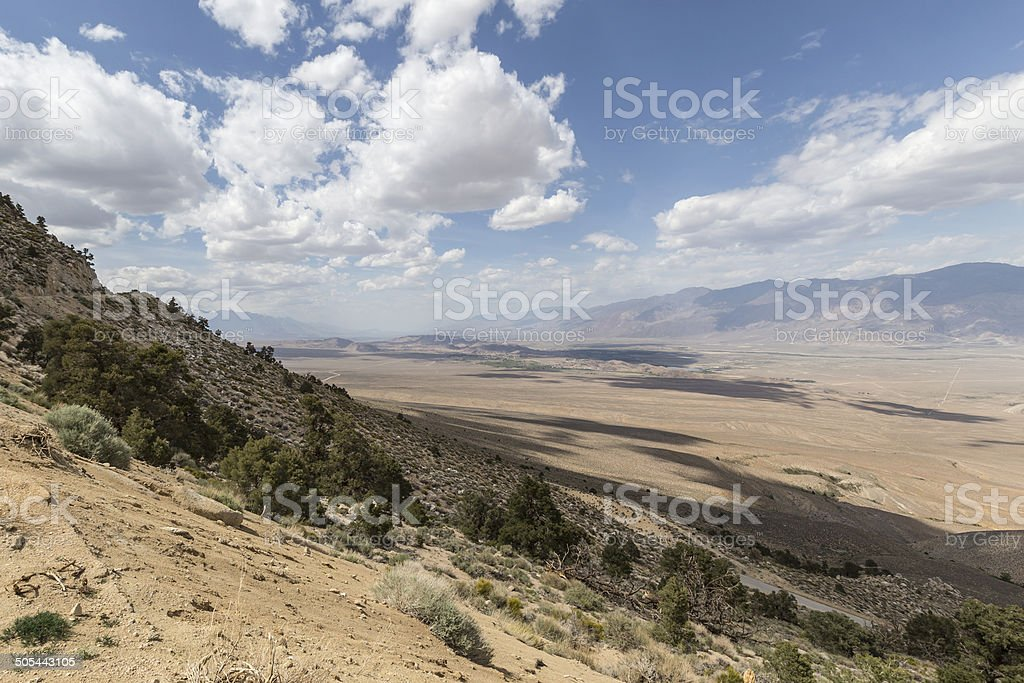 Owens Valley Lone Pine View California stock photo