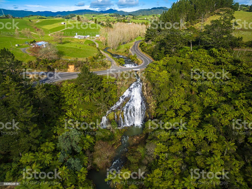 Owharoa Falls stock photo