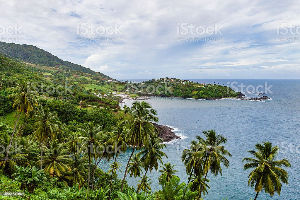 Owia Bay, St. Vincent stock photo