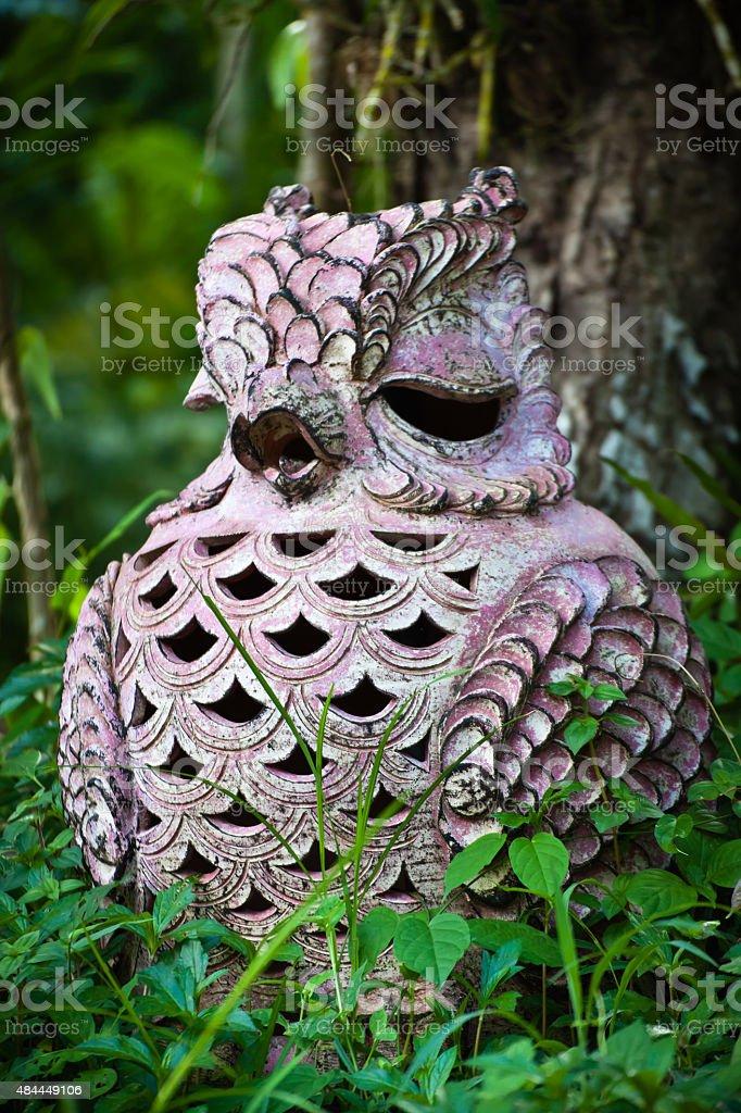 Owl Garden Decor stock photo