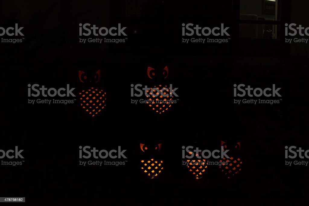 Owl lamp stock photo
