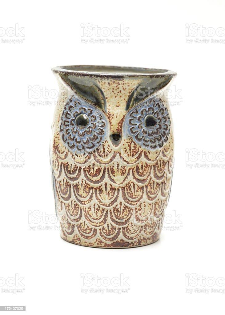 Owl Mug stock photo