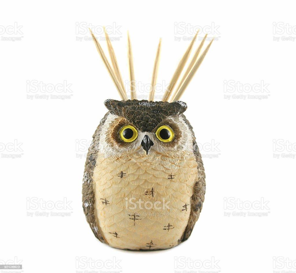 Owl Toothpick Holder stock photo