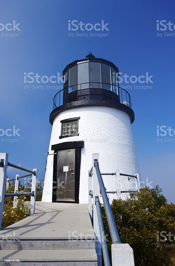 Owl's Head Lighthouse In Camden, Maine royalty-free stock photo