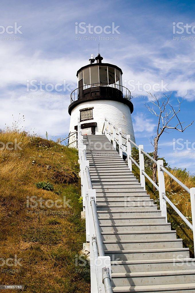 Owls Head Lighthouse royalty-free stock photo
