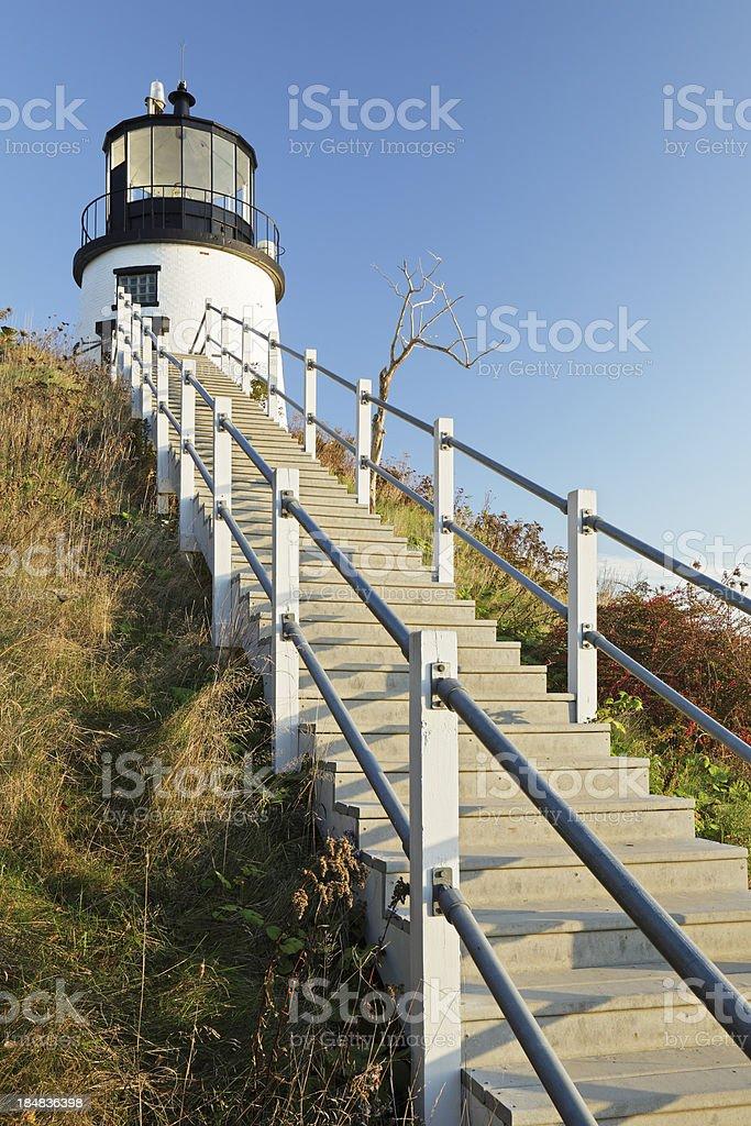 Owls Head Lighthouse stock photo