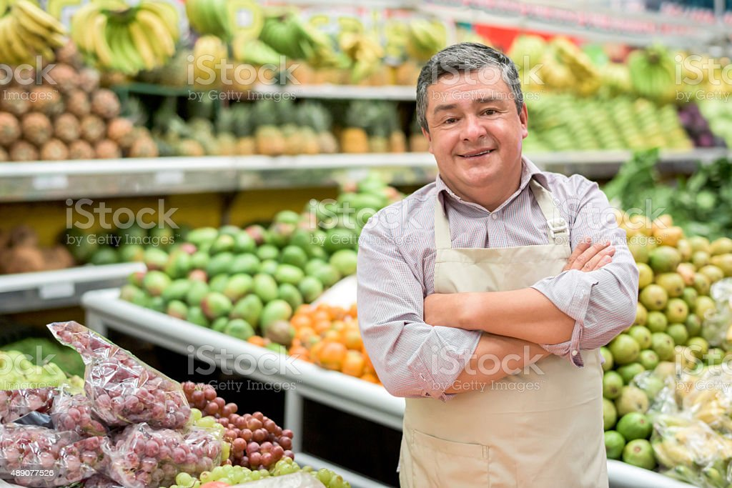 Owner of a small food business stock photo