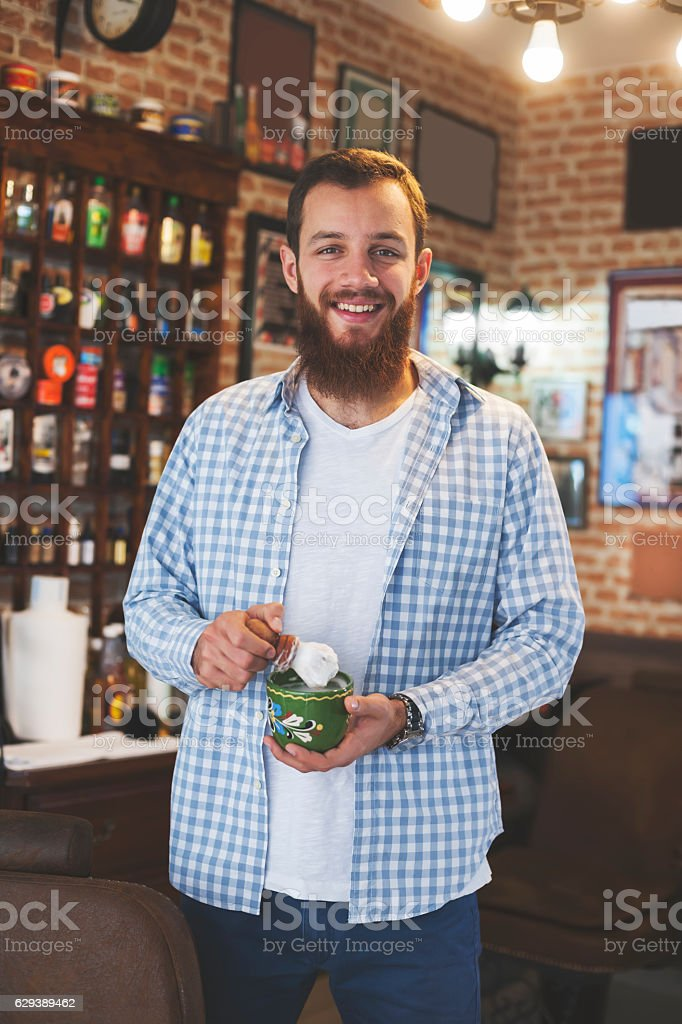 Owner of the Barber Shop stock photo