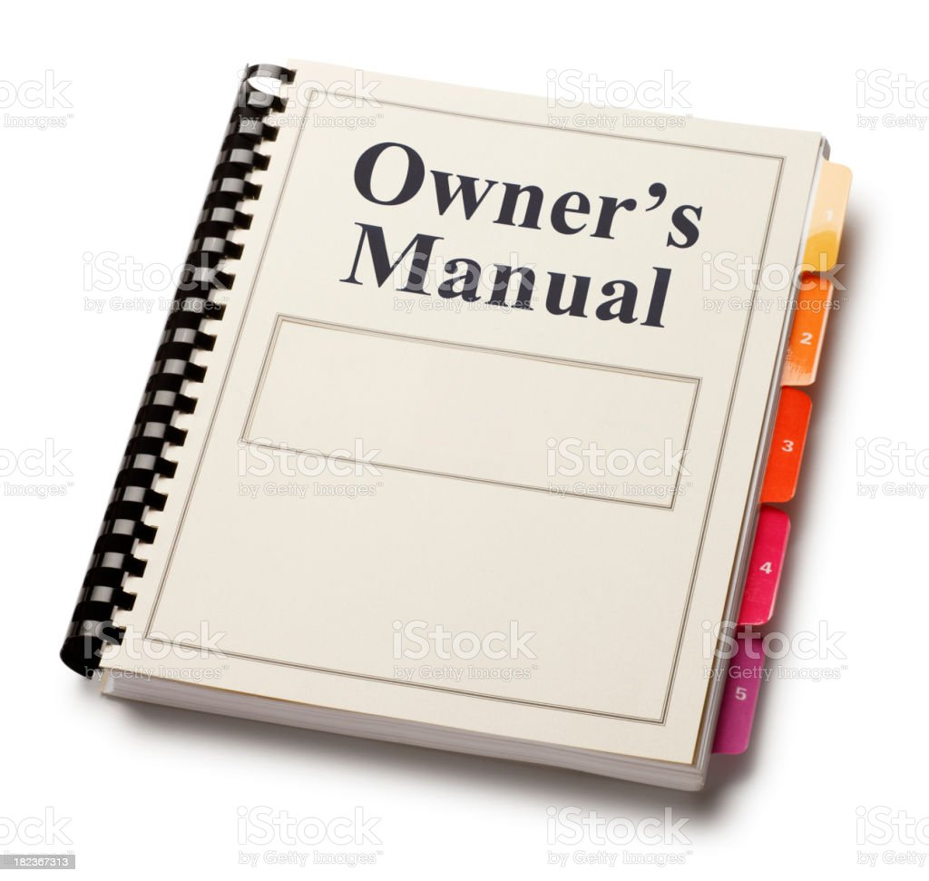 Owner's Manual stock photo