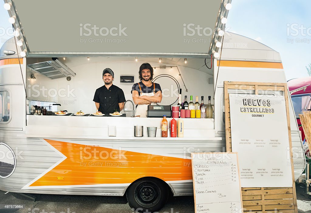 Owning a food truck stock photo