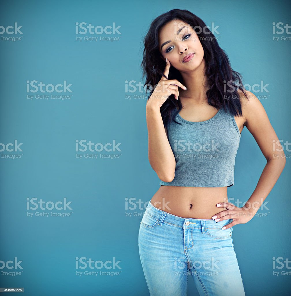 Owning her confidence stock photo