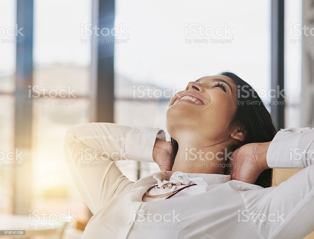 Owning her success stock photo