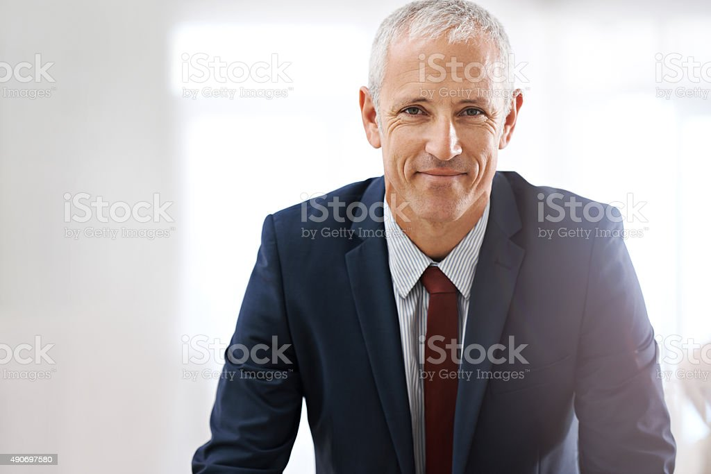 Owning success! stock photo