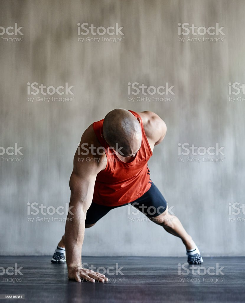 Owning this workout! stock photo