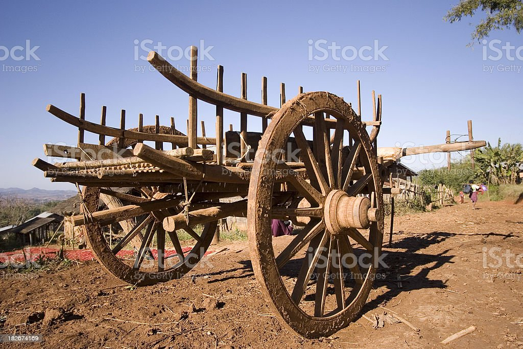 Ox cart royalty-free stock photo