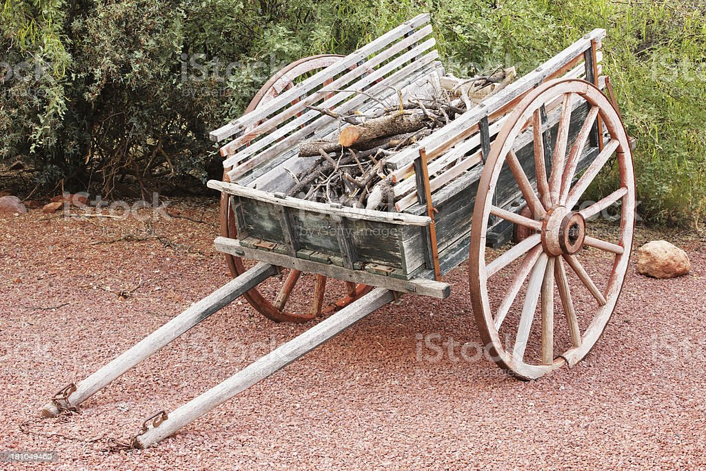 Ox Cart Wagon Wheel Carriage royalty-free stock photo