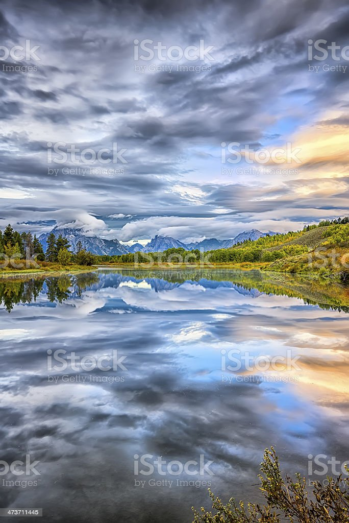 Oxbow Bend at Dawn royalty-free stock photo
