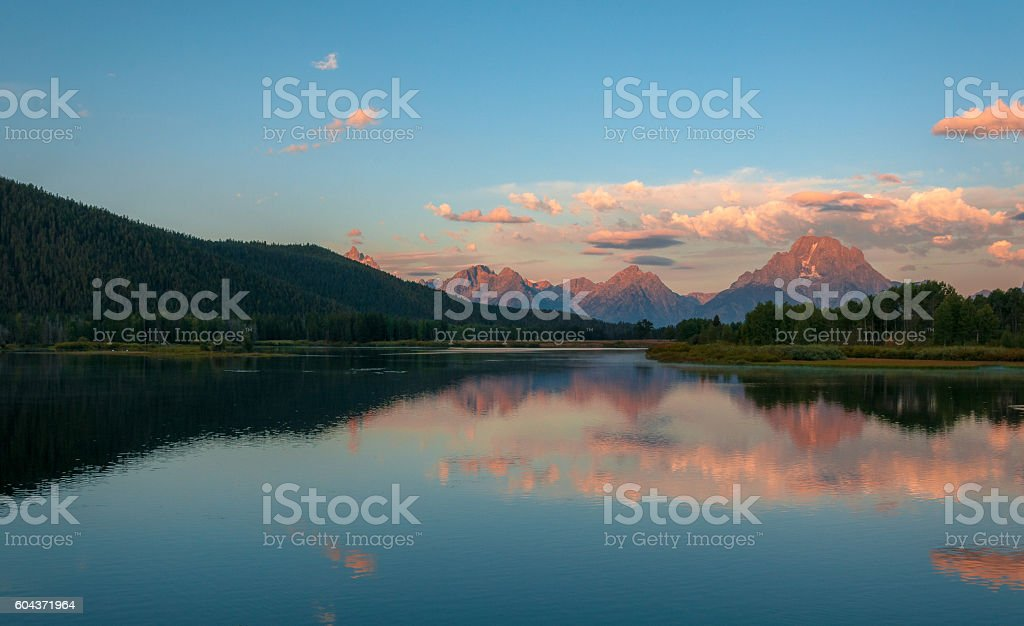 Oxbow Bend, Grand Teton National Park stock photo