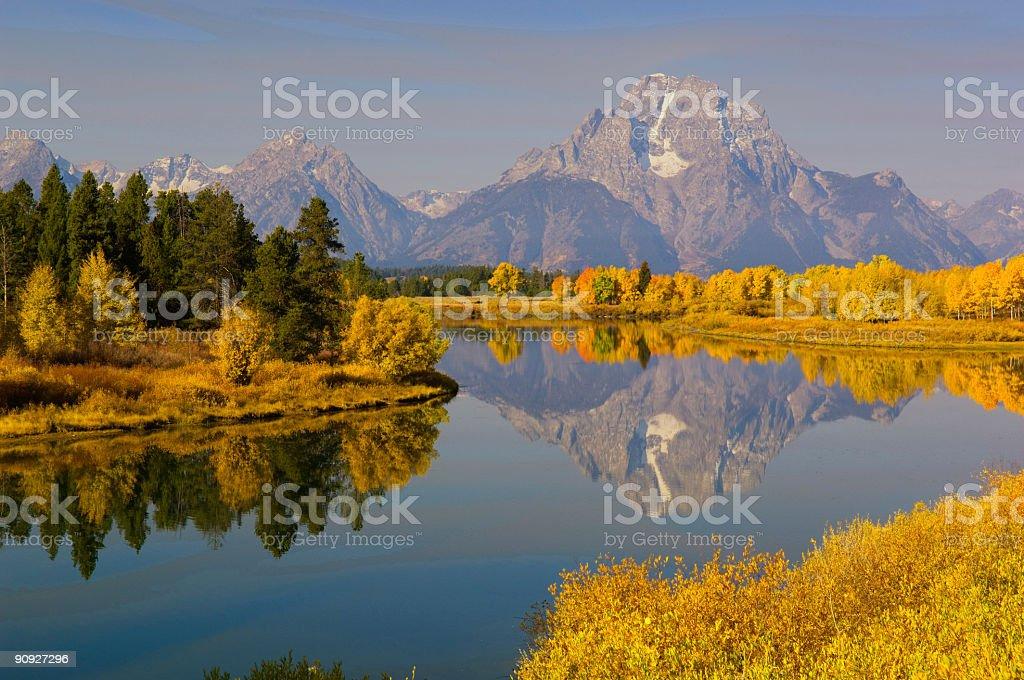 Oxbow Bend, Grand Teton National Park royalty-free stock photo
