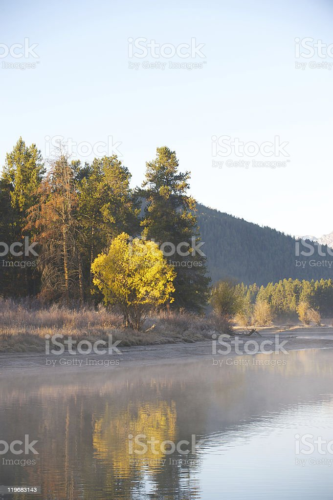 Oxbow bend in Jackson Hole Wyoming. royalty-free stock photo