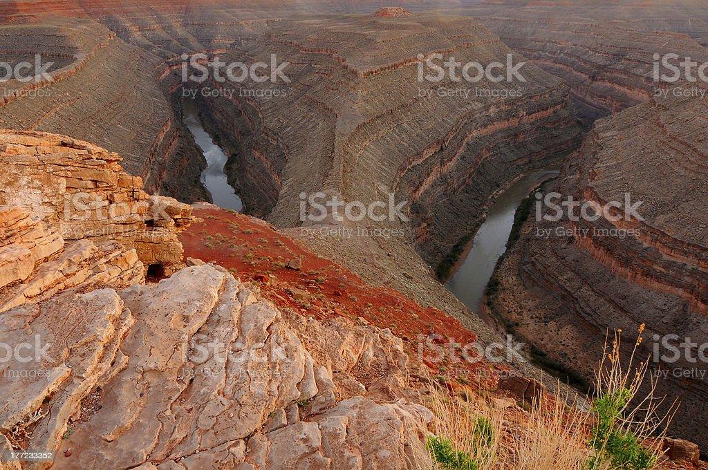 Oxbow canyon royalty-free stock photo