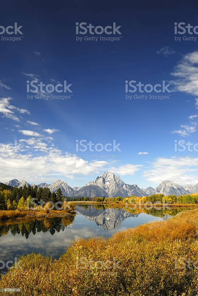 Oxbow in Autumn royalty-free stock photo