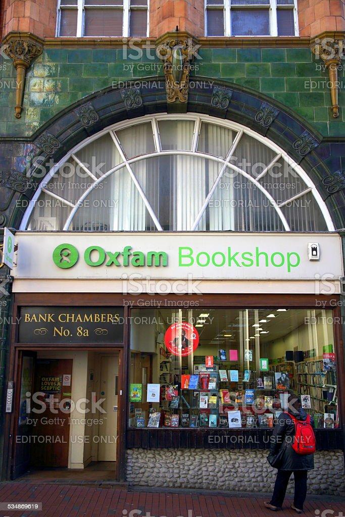 Oxfam Bookshop stock photo