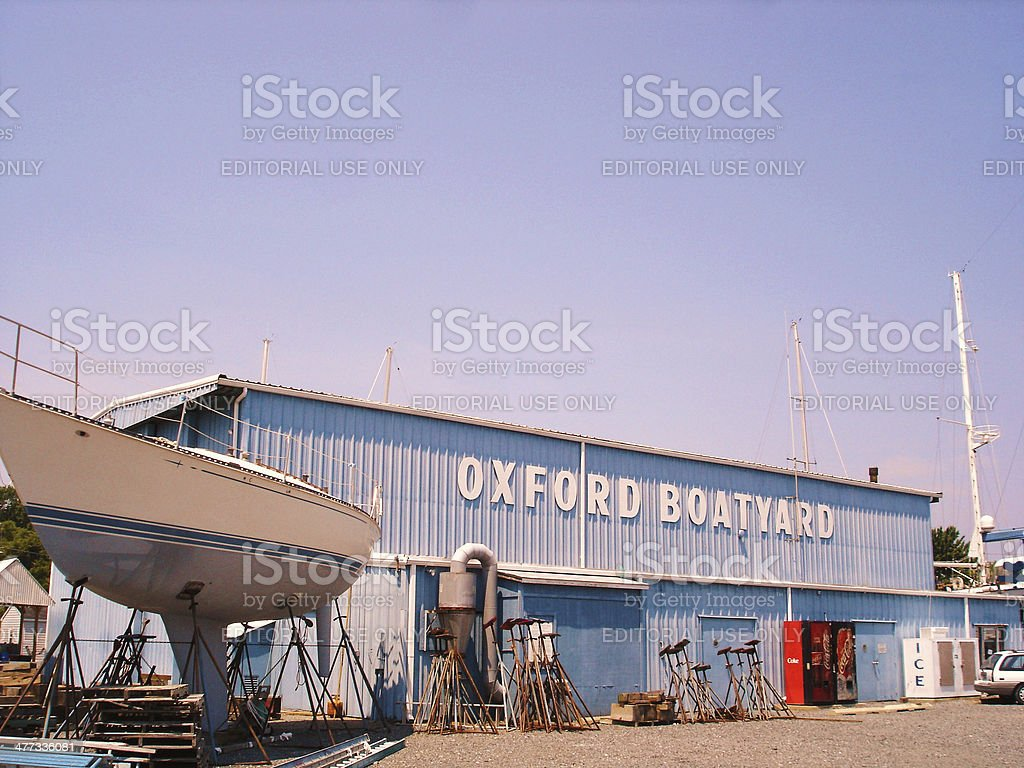 Oxford Boat Yard royalty-free stock photo