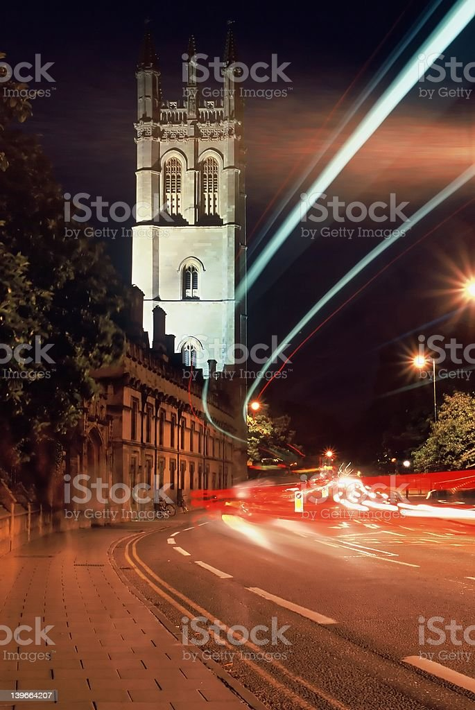 Oxford by Night stock photo