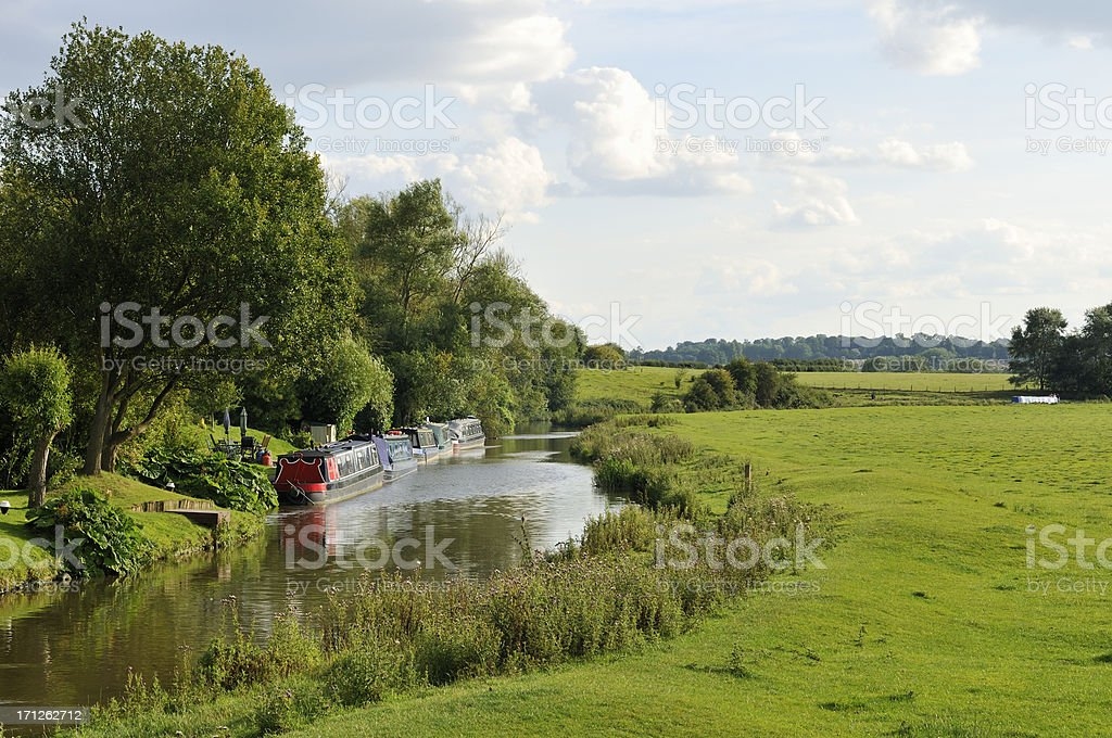 Oxford canal stock photo