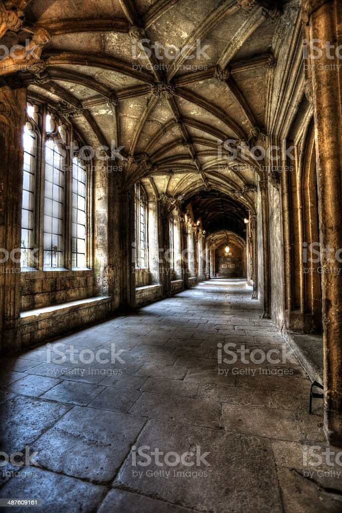 Oxford Christchurch Cloisters stock photo