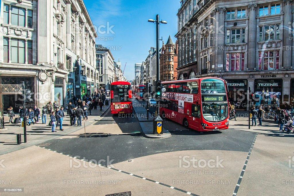 Oxford Circus Crossing - London stock photo