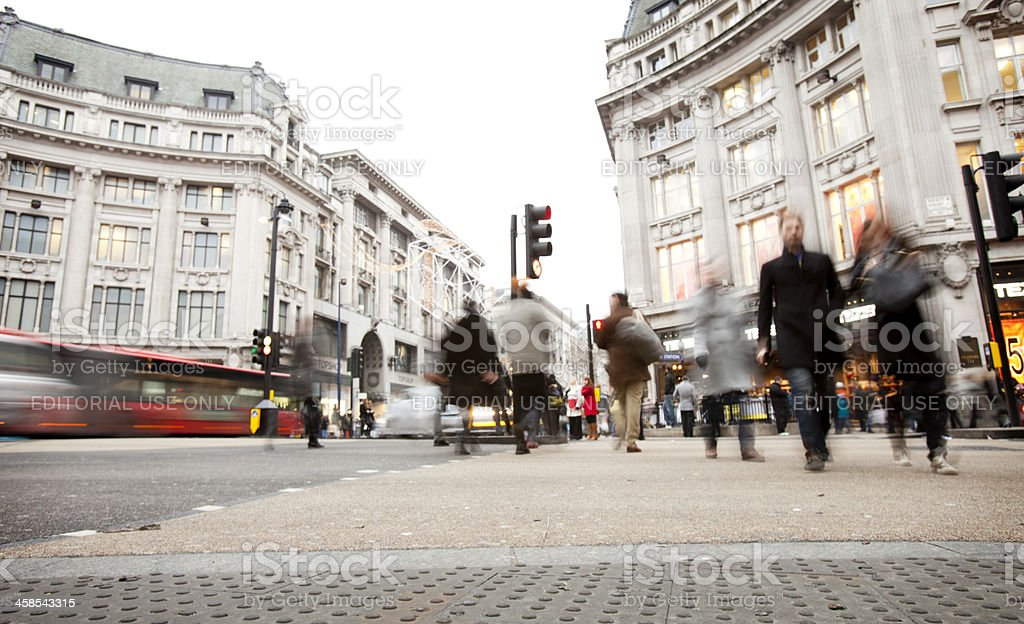 Oxford Circus, London. royalty-free stock photo
