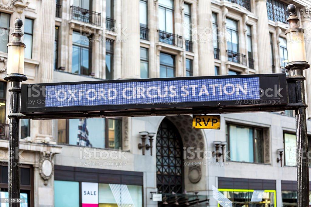 Oxford Circus Underground Station stock photo