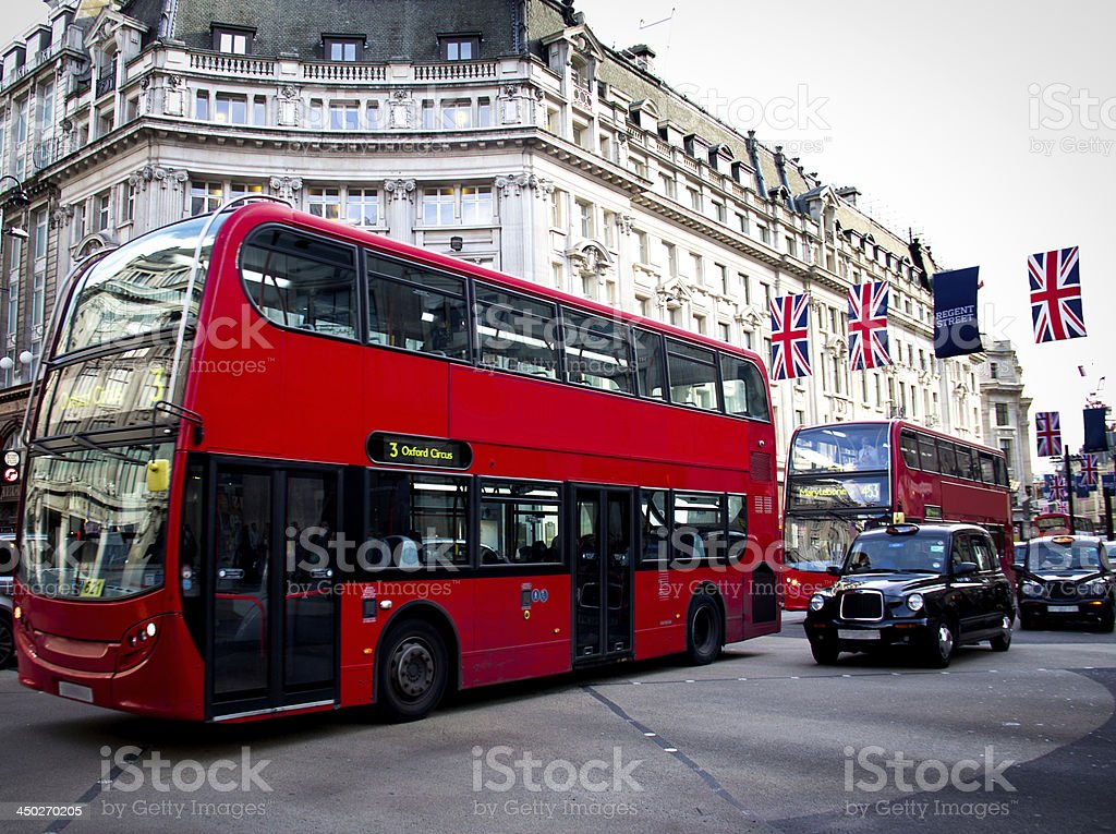 Oxford Circus view stock photo