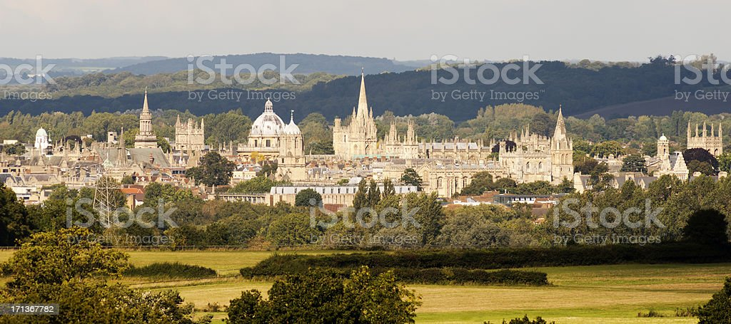 Oxford City in England UK stock photo