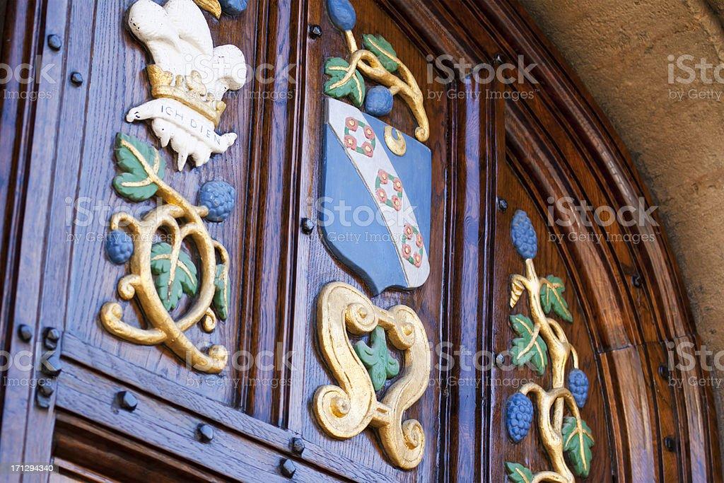 Oxford College Heraldry stock photo