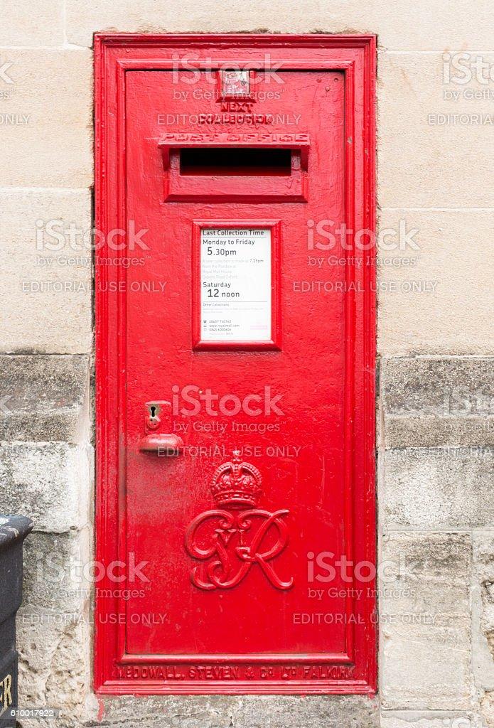 Oxford Mailbox stock photo