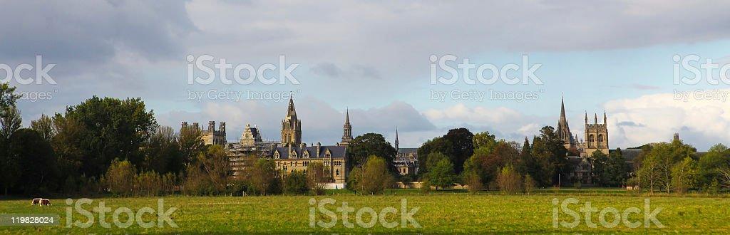 Oxford Panorama stock photo