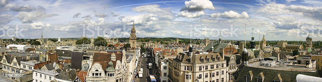 Oxford Panoramic View stock photo
