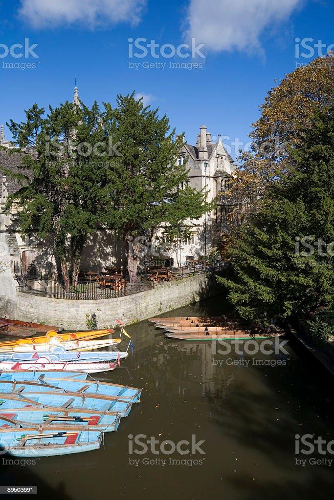Oxford River Scene royalty-free stock photo