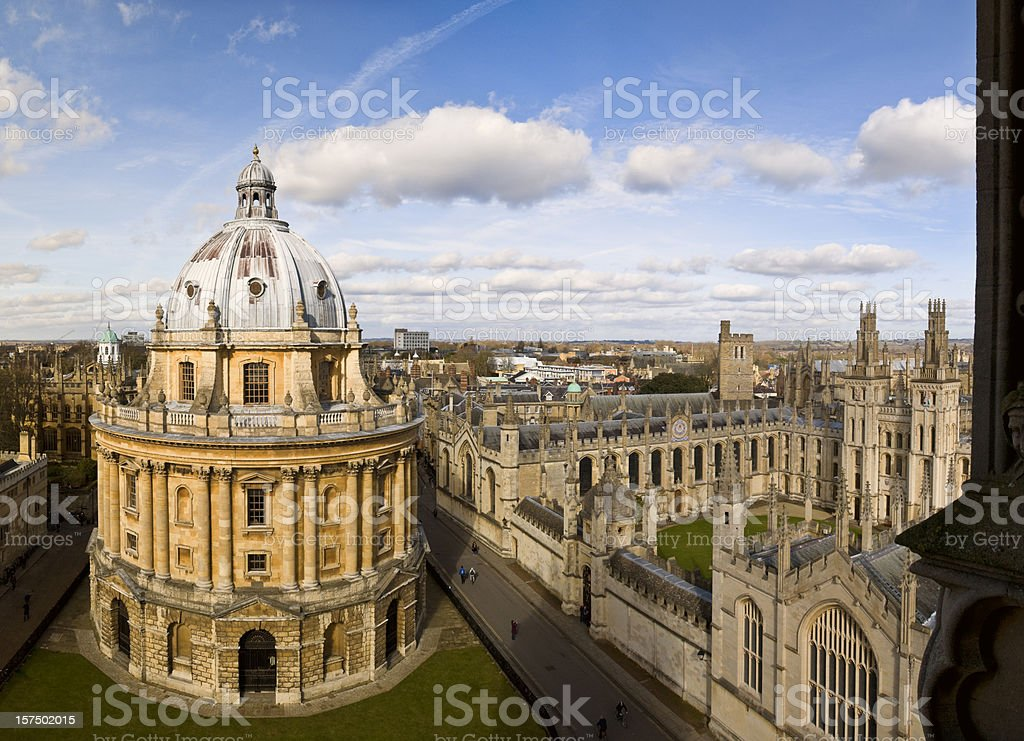 Oxford Skyline and Radcliffe Camera stock photo