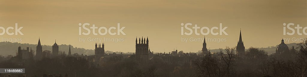 Oxford skyline stock photo