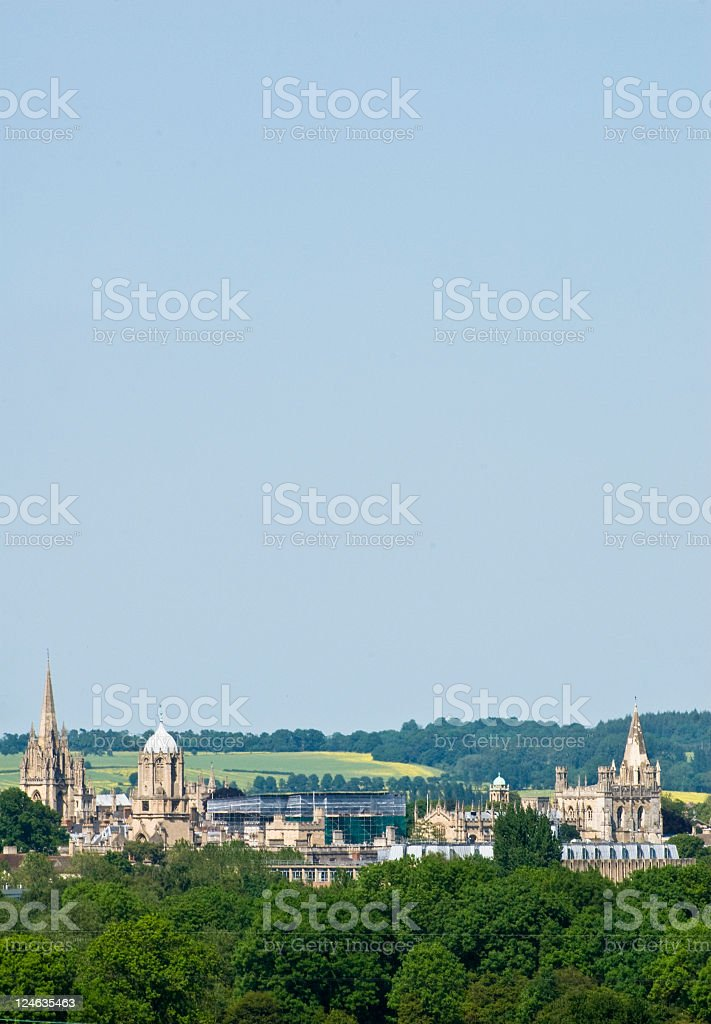 Oxford Spires in Oxfordshire royalty-free stock photo